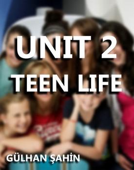 8.SINIF İNGİLİZCE 2.ÜNİTE TEEN LIFE kapağı