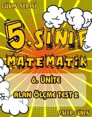5.SINIF 6.ÜNİTE ALAN ÖLÇME TEST 2 (GÜVEN SERİSİ - 26) kapak resmi